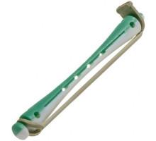 Коклюшки 6 мм длинные бело-зеленые, 12 штук в упаковке