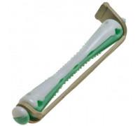 Коклюшки 6 мм короткие бело-зеленые, 12 штук в упаковке