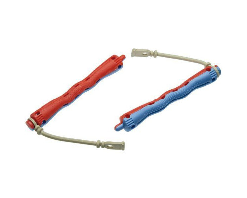 Коклюшки пластиковые красно-голубые (12 штук)