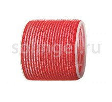 Бигуди-лип.(10) Sibel 70мм красный 6 шт/уп