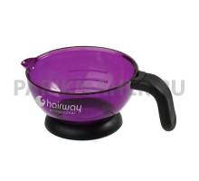Чаша Hairway для краски с ручкой 125 мм, фиолетовая