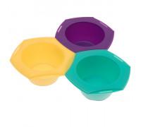 Набор для колориста из 3 цветных мисок