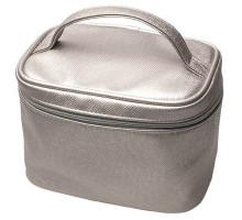 Косметичка серый металлик 19х12,5х14см