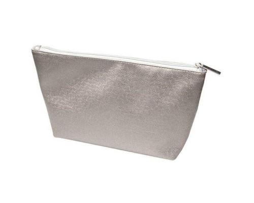 Косметичка серый металлик 23х8,5х17см