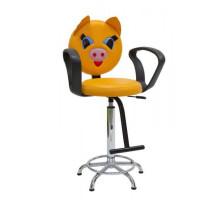 Весёлый кабанчик детский стул