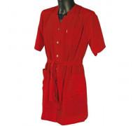 Халат для косметолога красный, 5960525 L