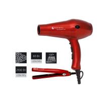 Фен Hairway Ruby Ceramic 2100W + мини-щипцы гофре HW 65W (03049+04099)