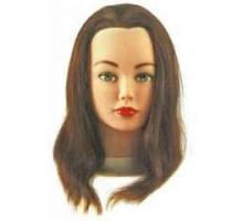 Голова S Cathy натуральные волосы шатен 15-40см б/ш