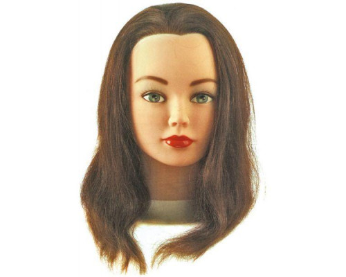 Тренировочный макет CATHY с натуральными волосами 30/35 см