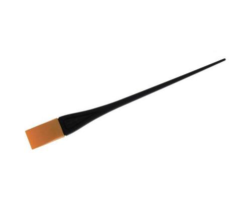 Кисть для окраски оранжевая узкая