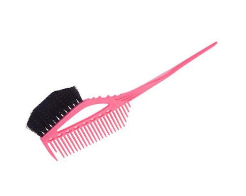 Кисточка для окрашивания с расческой Y.S. Park, YS-640 pink