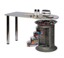 Маникюрный стол Elite plus серый, серый столешница