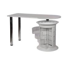 Маникюрный стол Elite plus белый, белая столешница