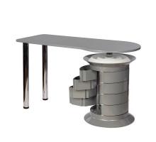 Маникюрный стол Elite серый, серый столешница