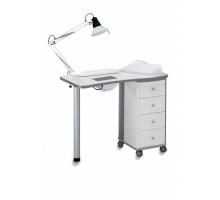204 LХ маникюрный стол белый с вытяжкой