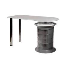 Маникюрный стол Elite plus серый, белая столешница