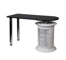 Маникюрный стол Elite plus белый, черная столешница