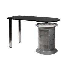 Маникюрный стол Elite plus серый, черная столешница