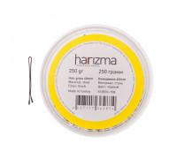 Невидимки для волос 40 мм прямые черные, 250 грамм