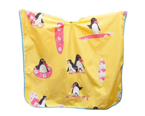"""Укороченная накидка """"Пингвины"""" жёлтая"""