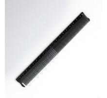 Расчёска для стрижки с линейкой черный