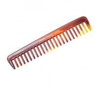 Расчёска с редкими зубчиками желто-коричневая