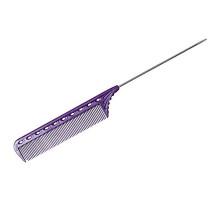 Расчёска с металлическим хвостиком гибкая фиолетовая