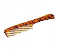 Расчёска с ручкой желто-коричневая