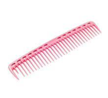 Расческа для стрижки редкозубая широкая розовая