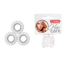 Резинки Titania 2,5см 3 шт/уп прозрачные пружина 7916