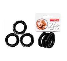 Резинки Titania 4см 3 шт/уп черные пружина 7917