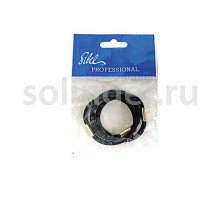 Резинки Sibel (25) для волос черный толст. 3 шт/уп