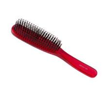 Щетка Hairway Crystal 6-рядная красная