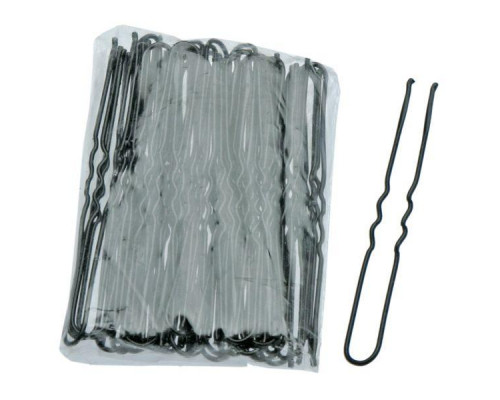 Шпильки для волос 45мм чёрные волнистые