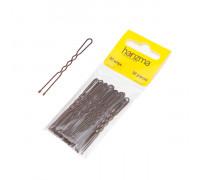 Шпильки 60 мм волна коричневые 30 штук