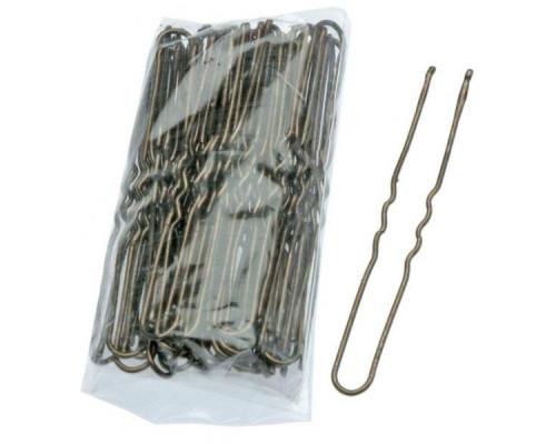 Шпильки для волос 45мм бронзовые волнистые