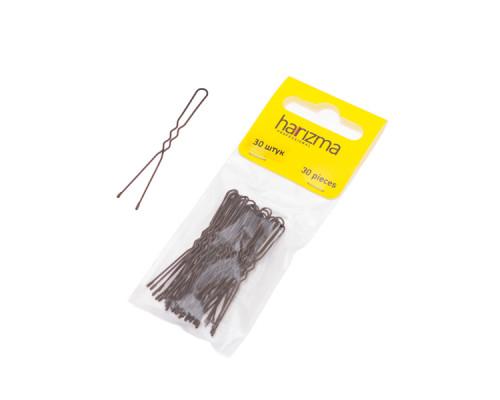Шпильки 50 мм волна коричневые 30 штук