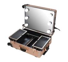 Мобильная студия визажиста VZ-58, золотистый