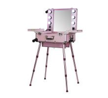 Мобильная студия визажиста VZ-210, розовый