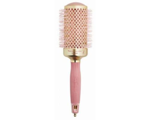 Термобрашинг для укладки волос керамический + ион NanoThermic 54мм розовое золото
