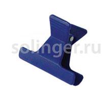 Зажим Sibel пласт.узкий 4 цвета 12 шт/уп (42061)