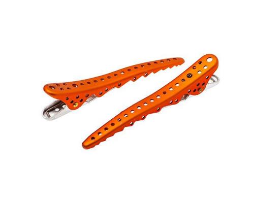 Комплект зажимов Shark Clip (2 штуки), оранжевый, YS-Shark clip orange met