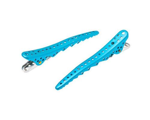 Комплект зажимов Shark Clip (2 штуки), YS-Shark light blue metal