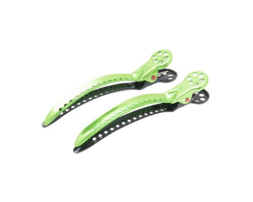 Зажимы для волос Chignon Clip 2 штуки зеленые