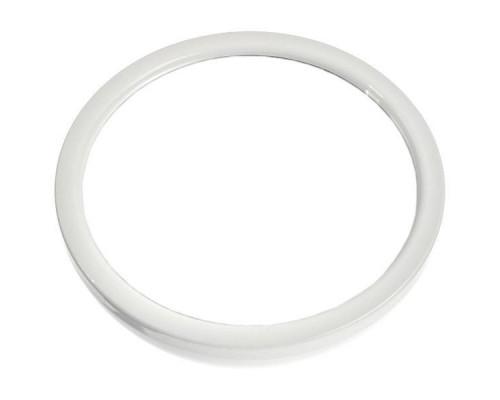 Круглое белое зеркало 22 см с ручкой